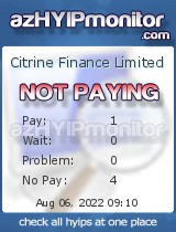 azHYIPMonitor.com - hyip citrine finance limited
