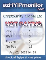azHYIPMonitor.com - hyip cryptounity global ltd