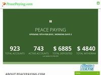hyip Peace paying